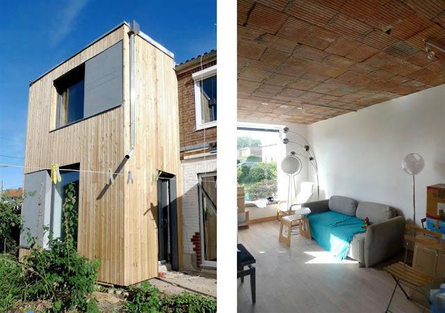 Rénovation écologique, maison individuelle à Villeneuve d'Ascq_bardage