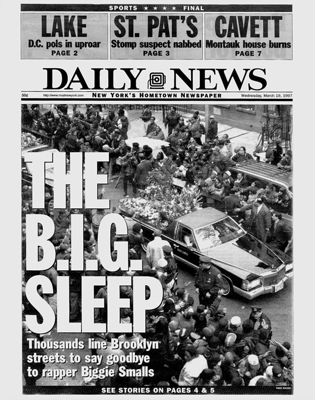 The Notorious B.I.G. Biggie Smalls Christopher Wallace NY Daily News March 19, 1997