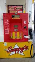 A colorful gas pump in the USA.
