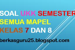 Download Soal UKK Kelas 7 dan 8 Semester 2 SMP/MTS