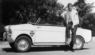 George Lucas con su coche en Modesto en los años 60