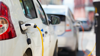 Electric vehicles charging (Credit: Shutterstock) Click to Enlarge.