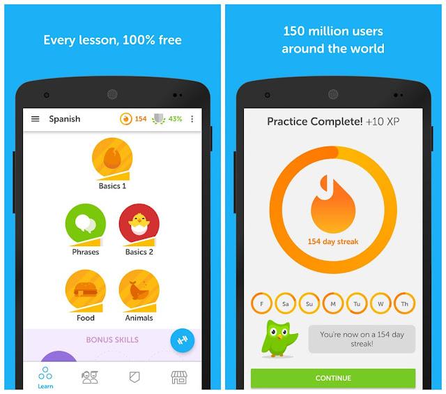 Duolingo learn languages full aak
