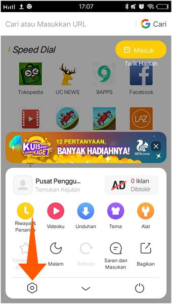 Cara Hilangkan Iklan & Pemberitahuan Berita di UC Browser