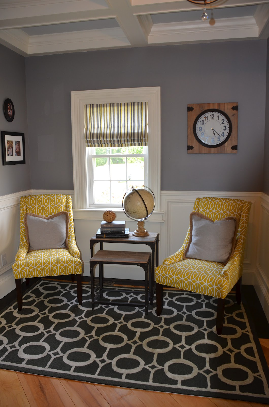 Ballard Design Chairs Black Chair Covers To Hire {jessica Stout Design}: Office {gray & Yellow}