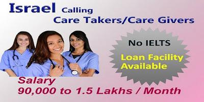 Job Vacancy in Israel Male & Female Nurses can apply.