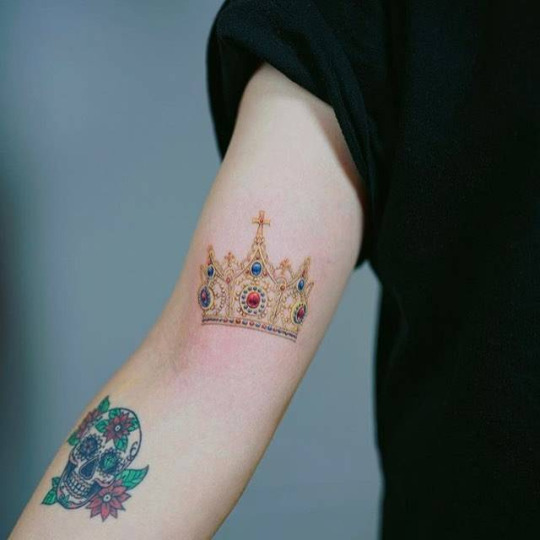 Colorful Crown Tattoo