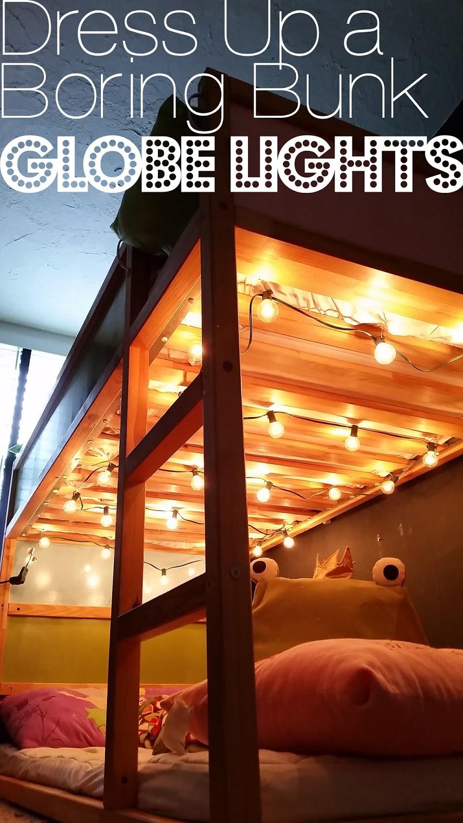 Grosgrain Dress Up A Boring Bunk Bed Globe Lights