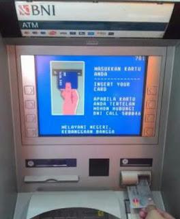 Cara Tarik Tunai/ Mengambil Uang Lewat ATM BNI Terbaru