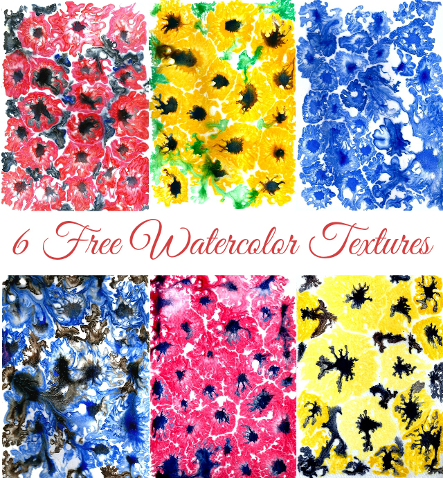 Get 6 free Watercolor Textures!