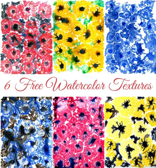 Get 6 free Watercolor Textures!