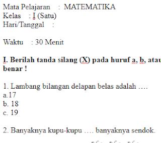 Soal-UTS-UKK-MATEMATIKA-Kelas-1-SD-Semester-1