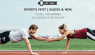 """Amazon Sports Fest Quiz, Amazon Quiz Today Answers, Amazon Sports Fest 