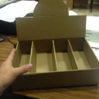 caja expositora con separadores