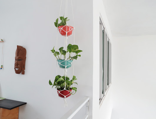 How to make a plant hanger with ceramic bowls
