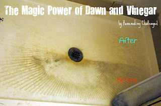 Vinegar and Dawn a powerful cleaner