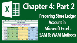 simpla average method (sam) and weighted average method (wam) of pricing material goods- ms excel