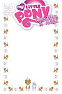 My Little Pony Friendship is Magic #15 Comic Cover Blank Variant