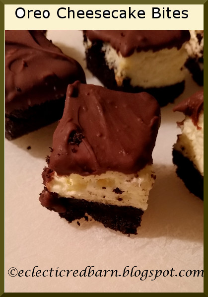 Eclectic Red Barn: No Bake Oreo Cheesecake Bites