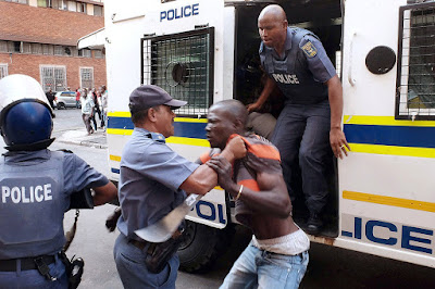 South Africa police strangle Nigerian Mr Uchenna Eloh