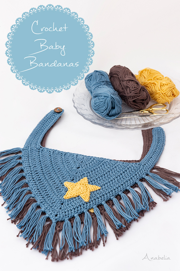 Crochet Baby Bandanas pattern