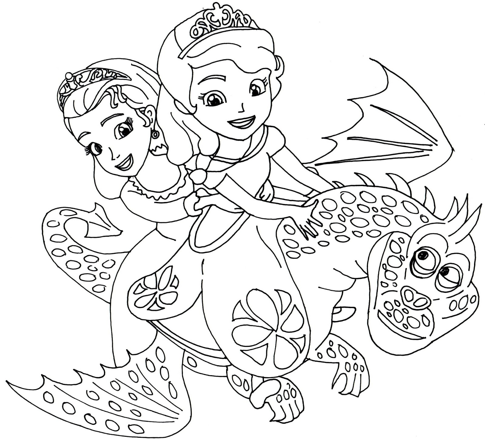 sofia the first the curse of princess ivy coloring pages