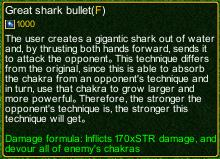 naruto castle defense 6.0 Great Shark Bullet Technique detail