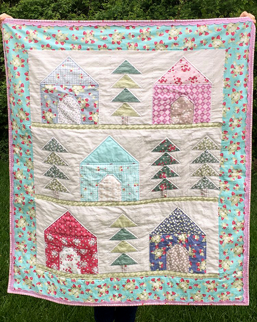 Cozy Cabins Quilt designed by Jera Brandvig of Quilting in The Rain, Quilted by Faith Essenburg of Sarana Ave, featuring La Conner Collection