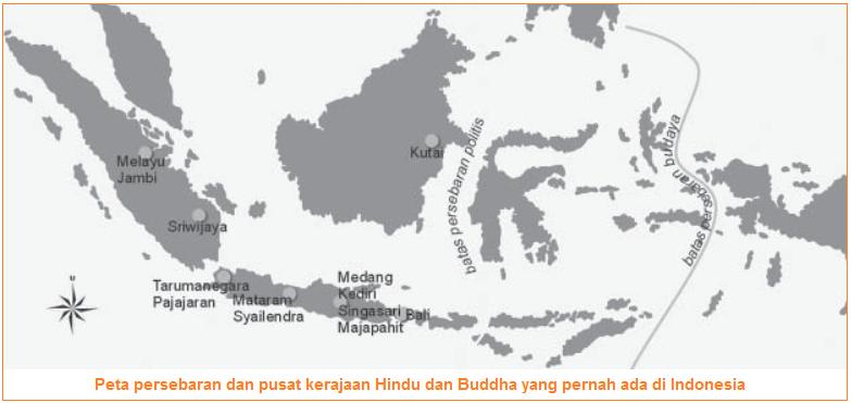 Peta Jalur Masuk Dan Daerah Yang Dipengaruhi Hindu Buddha Di Indonesia Pengaruh Hindu Buddha Terhadap Perkembangan Masyarakat