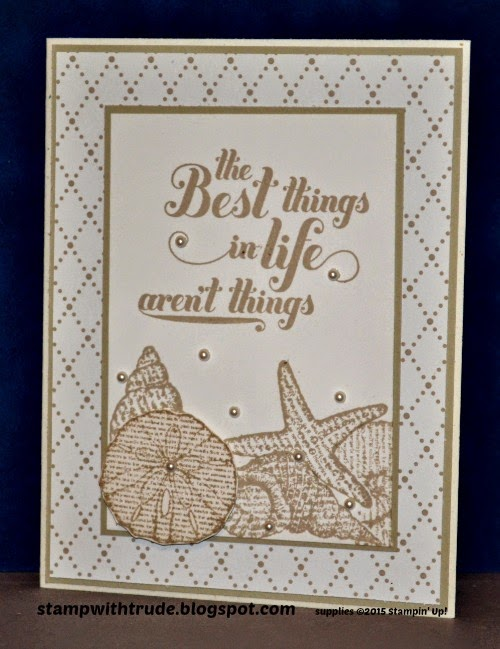 By the Seashore stamp set, Stampin' Up!, stampwithtrude.blogspot.com , Trude Thoman, Feel Good sentiments, greeting card