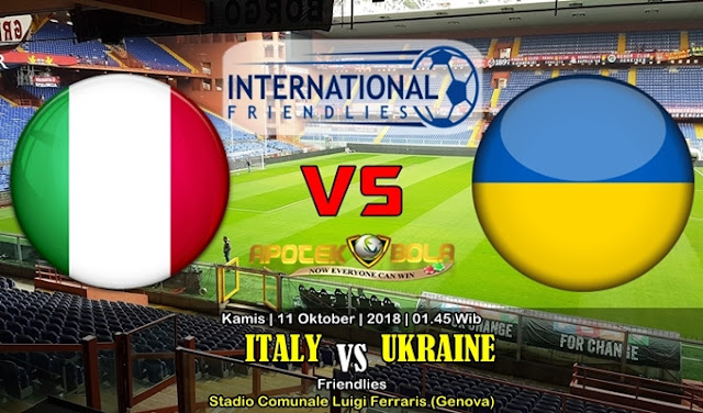 Prediksi Italia vs Ukraina 11 Oktober 2018