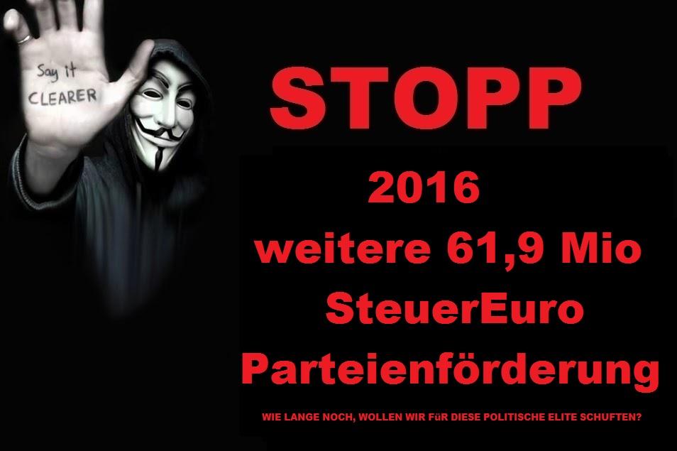 Die grosse Verschwendung - #Parteienförderung: 32 Euro pro ...