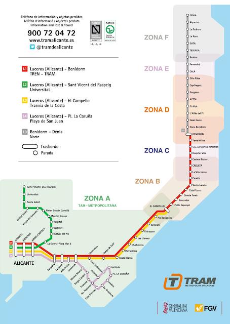 plano mapa del metro de alicante