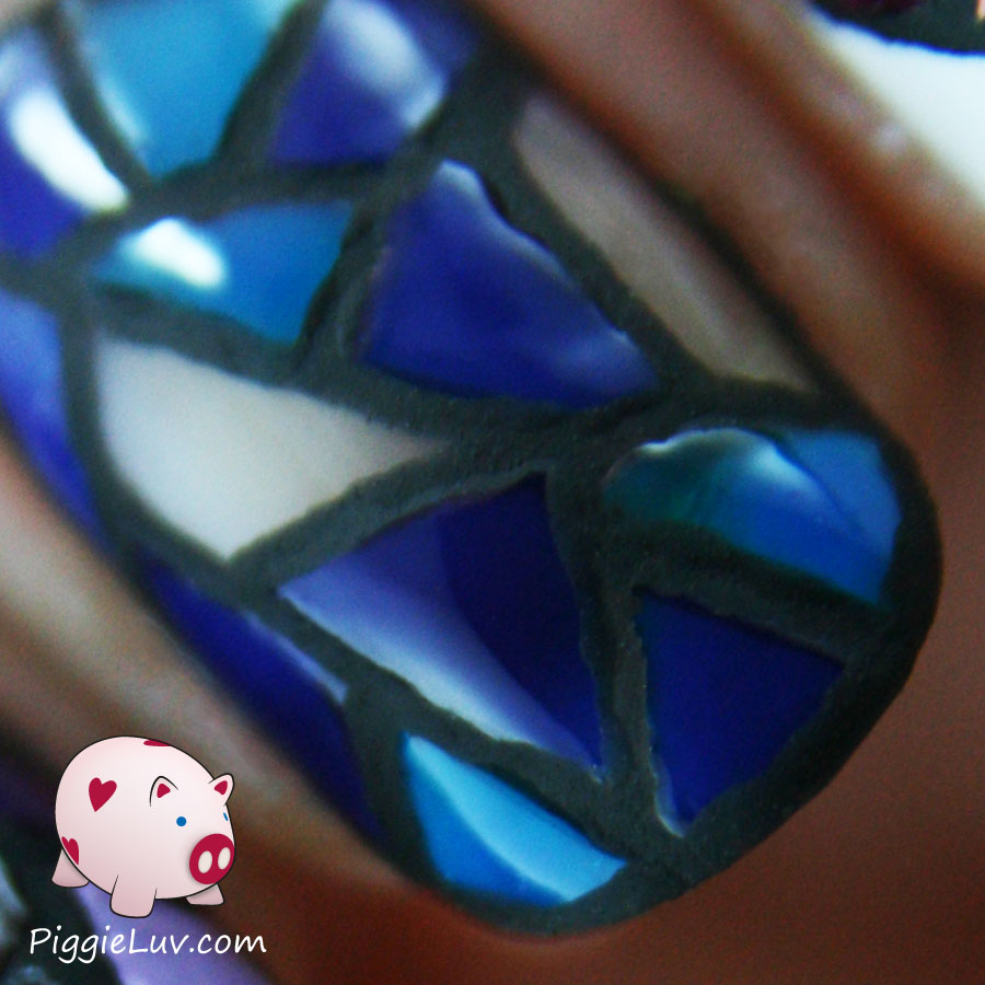 Stained Glass Nail Art: PiggieLuv: Stained Glass Twin Nails