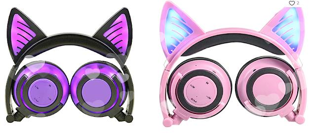 Cat Ears Headphones Rosegal
