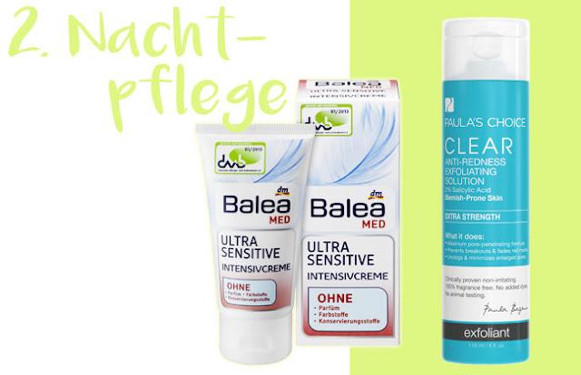 reizfreie Nachtpflege bei unreiner Haut ab 20 BHA Paulas Choice Balea MED tierversuchsfrei