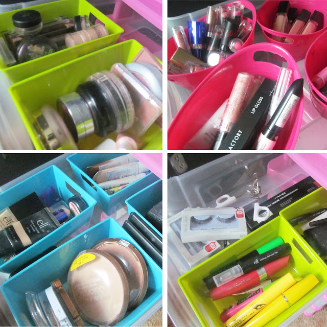 pretty and functional makeup organizer