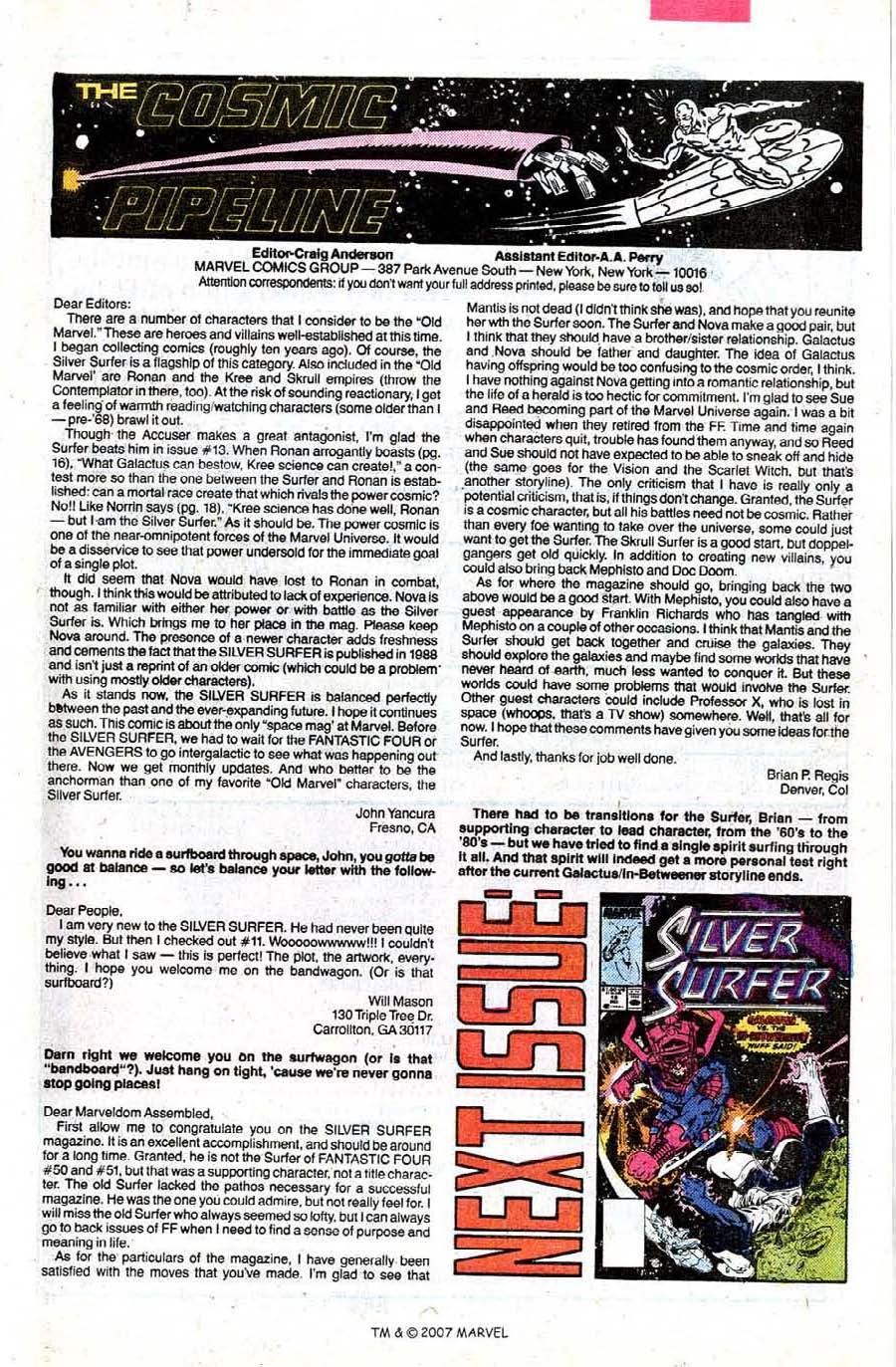 Read online Silver Surfer (1987) comic -  Issue #17 - 33
