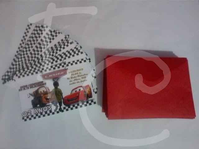 Convite - Carros Disney - Cars