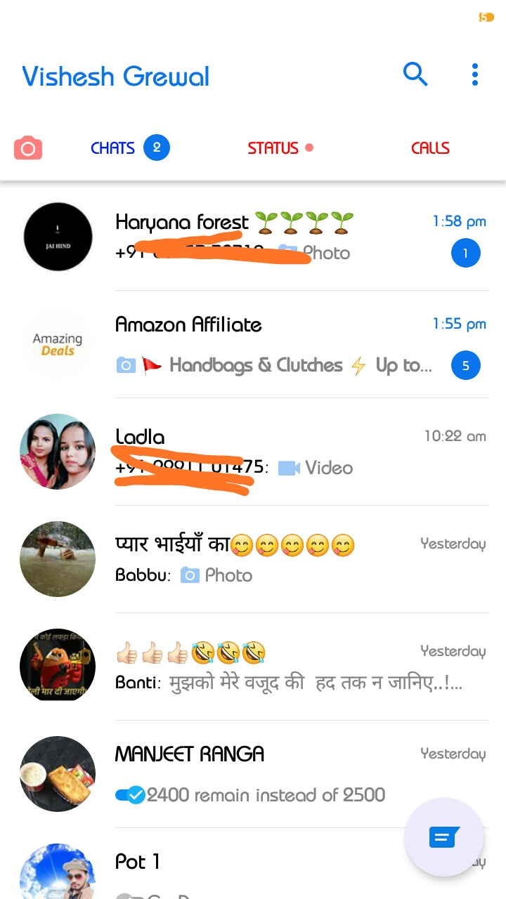 GbWhatsapp Theme IOS12 look