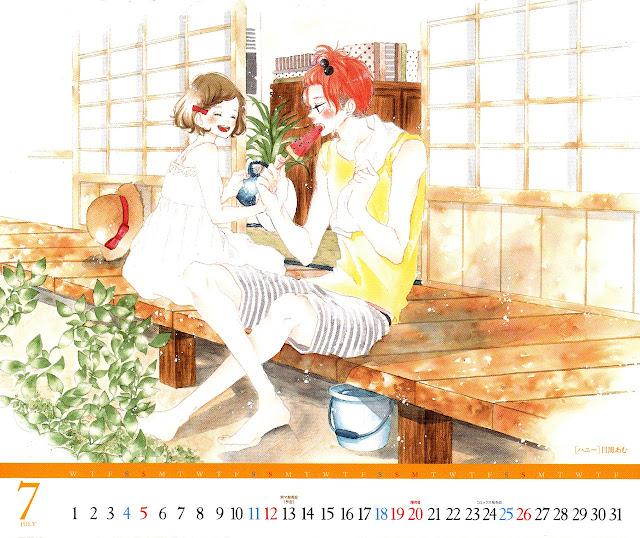 Calendar Betsuma 2015 07 Honey de Meguro Amu