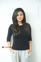 Telugu Actress Mishti Chakraborty Latest Pos in Black Top at Smile Pictures Production No 1 Movie Opening  0010.JPG