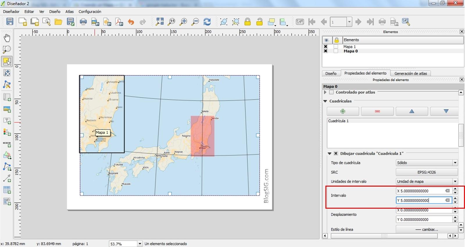 Blog SIG: Creando mapa en QGIS