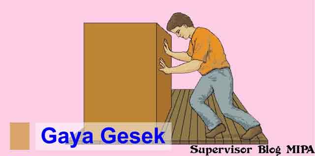 gambar ilustrasi gaya gesek