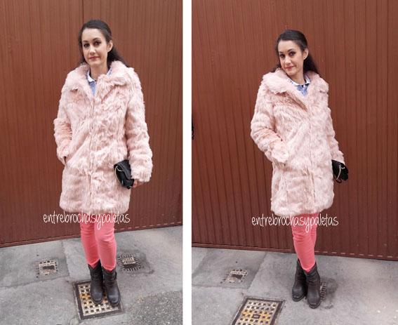 abrigo pelo rosa quizclothing