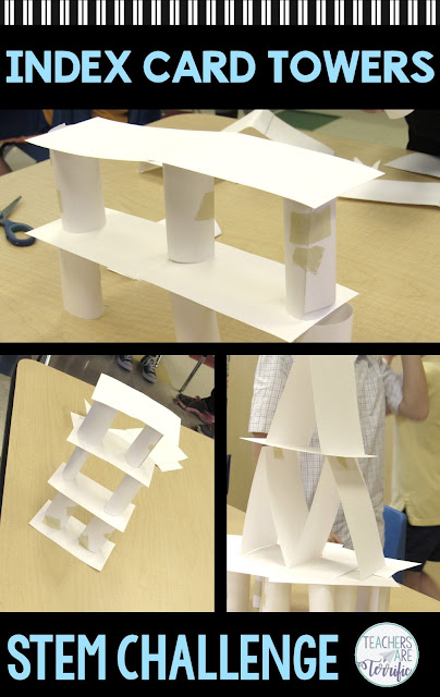 This STEM Tower Challenge is one of the easiest to prepare and the most challenging to complete! It's a perfect challenge to get all kids involved in problem-solving and practicing perseverance. For you, it involves prepping only one material. The resource includes a detailed Teacher's Guide, hints, lab sheets, photos, and a bonus Christmas version of the challenge. #STEM #elementary