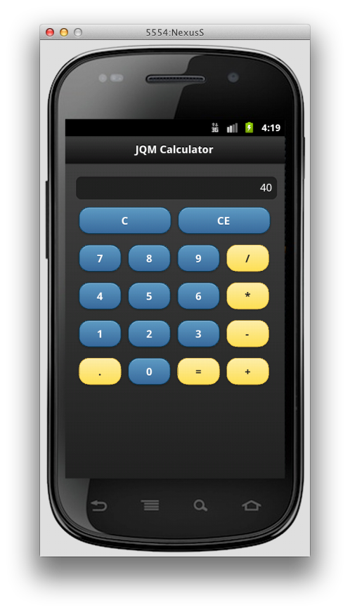 The Rock n Coder: Converting the jQuery Mobile Calculator to PhoneGap