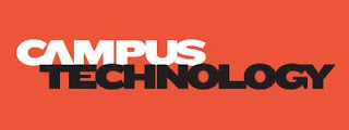 red background with text: campus technology