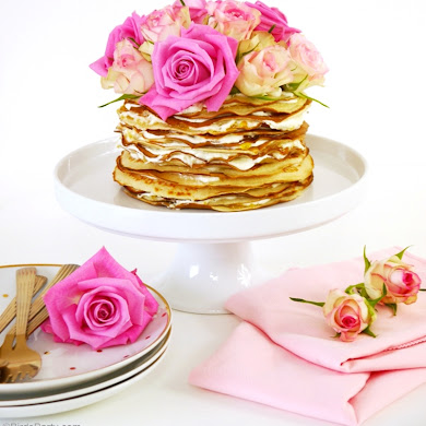 Recipe | Crepe Cake with Rosewater & Marmalade Cream