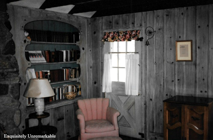 Cottage Living Room With Dutch Door Before Update